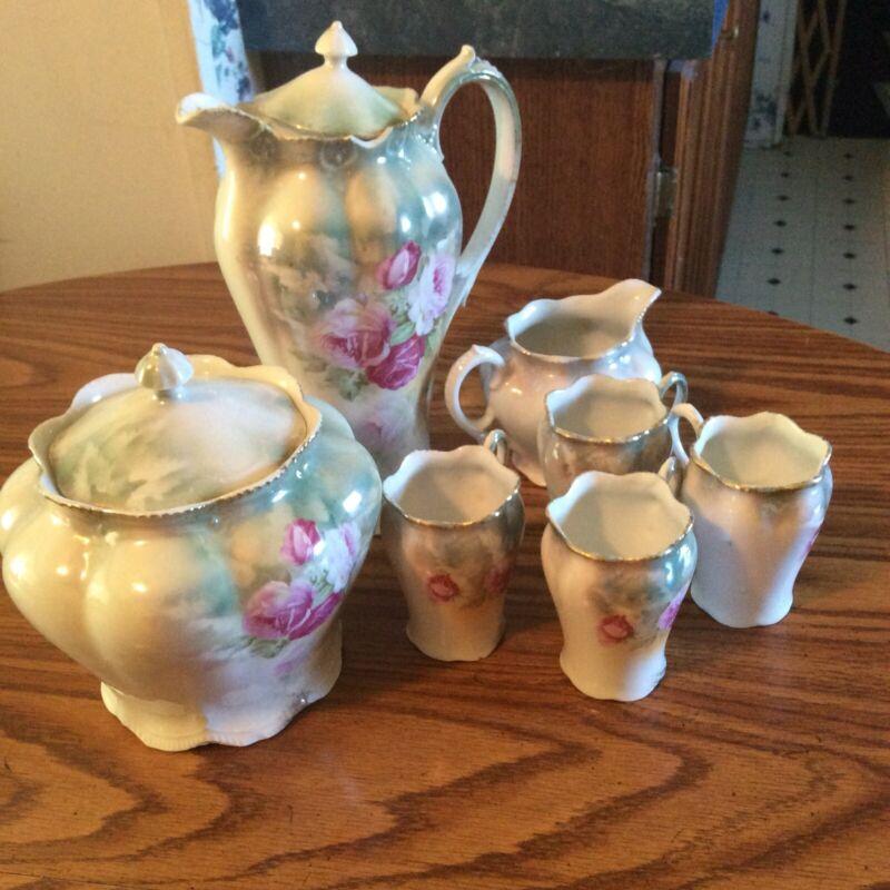 antique tea set porcelain