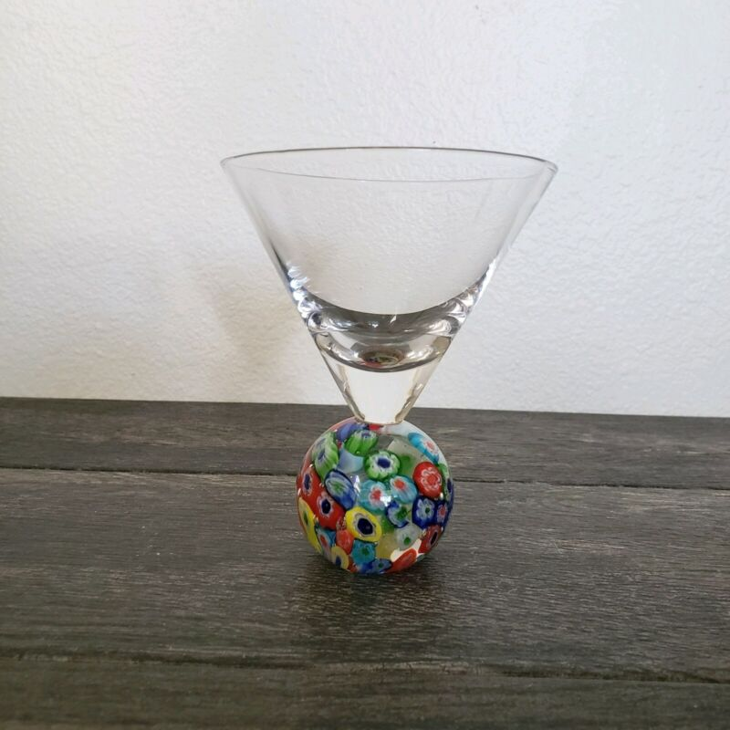 Millefiori Cocktail Glass Rare