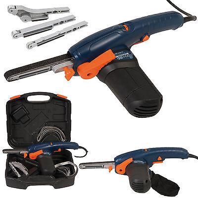Ferm Electric Powerfile File Belt Sander Sanding Polisher +10 Belts 3 Arms Case