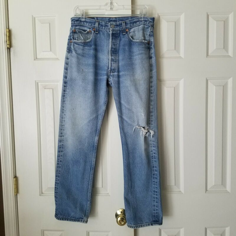 Vintage distressed levis 501xx 32 x 30