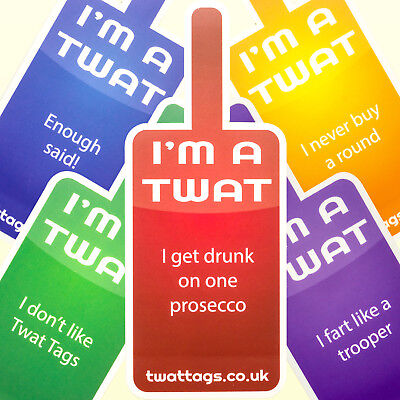 TwatTags, funny Hen Party night drinking games bachelorette ideas rude sticker  - Party Games Ideas