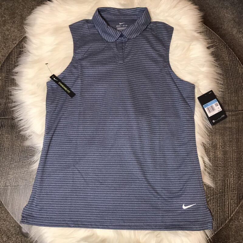 NWT Women's Nike Dri-Fit Golf Sleeveless Polo Top Size Medium Standard Fit