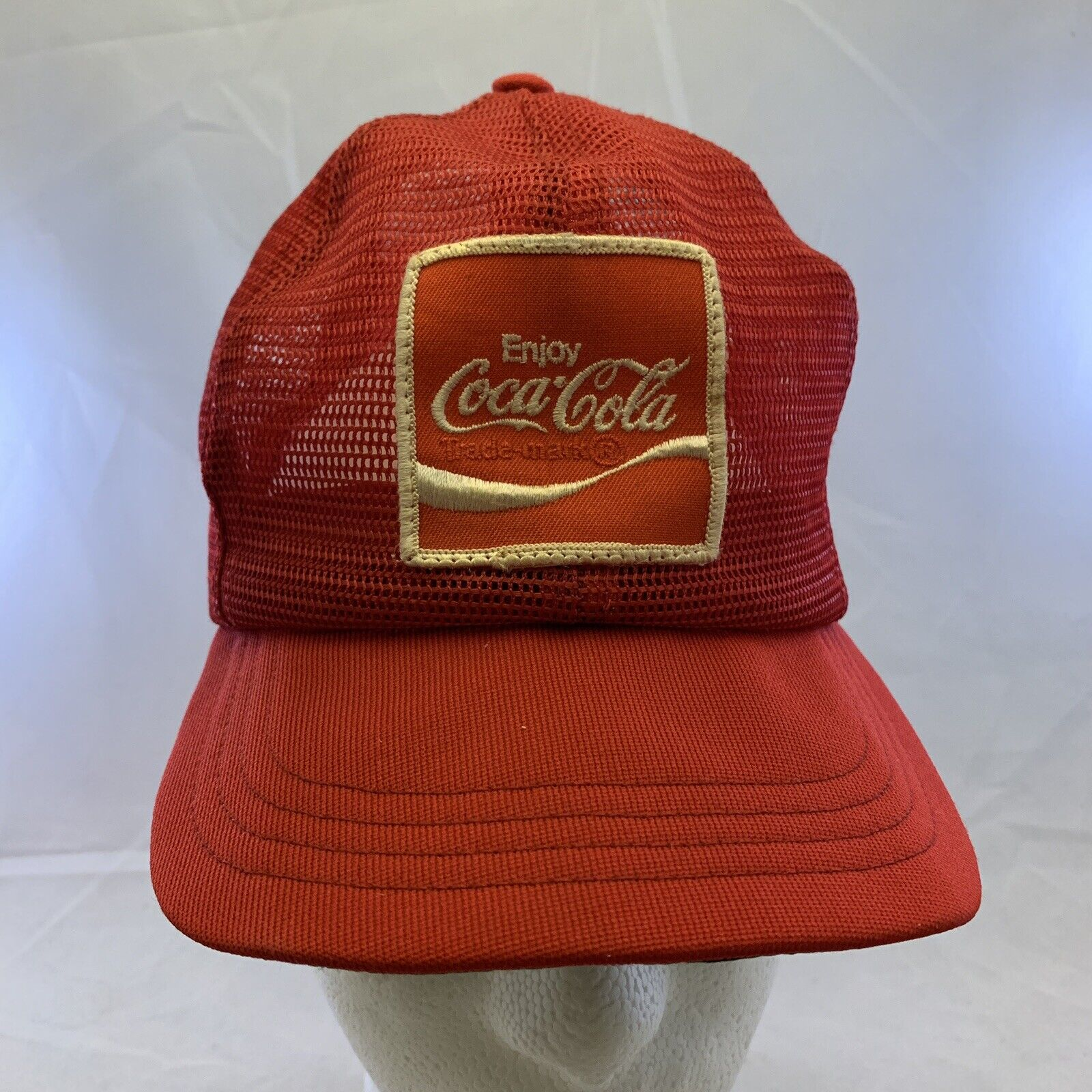 Coca Cola Coke Patch Red Mesh Made USA Swingster S
