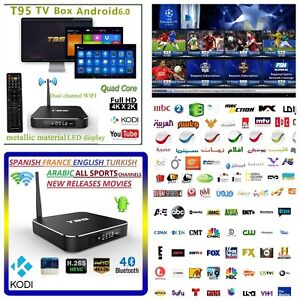 4K Arabic English Turkish Receiver WI-FI TV BOX Android Channels MBC Sports