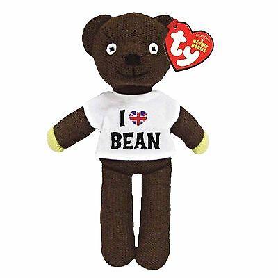 Official TY Beanie * Mr Bean * Teddy Bear Wearing 'I Love Mr Bean' T-shirt