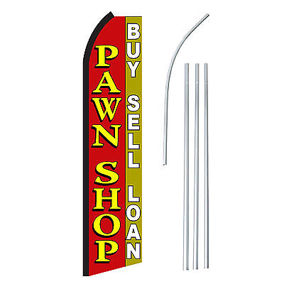 Pawn Shop - Advertising Sign Swooper Feather Banner Flag Pole Only