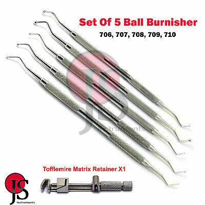 Dental Filling Ball Burnisher Composite Restoration Scaler Matrix Bands Retainer