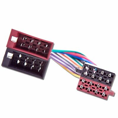 Male to Female ISO Lead Stereo Radio Wiring Harness Adaptor Cable Connector Loom