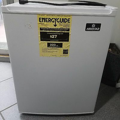 Compact 2.3 cu ft ABSOCOLD Refrigerator ARD244A White Used in EXELLENT Condition