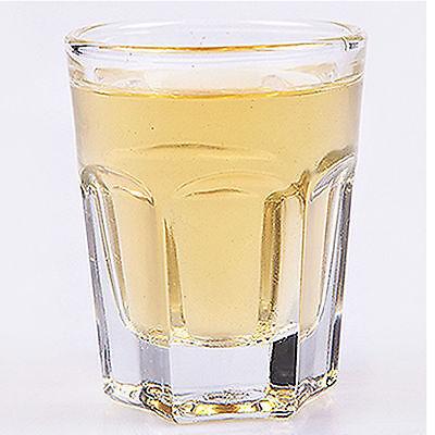 Hexagon Drinking Glass Sets Shot Glasses Soju Liquor Whiskey Bar Cups 12P