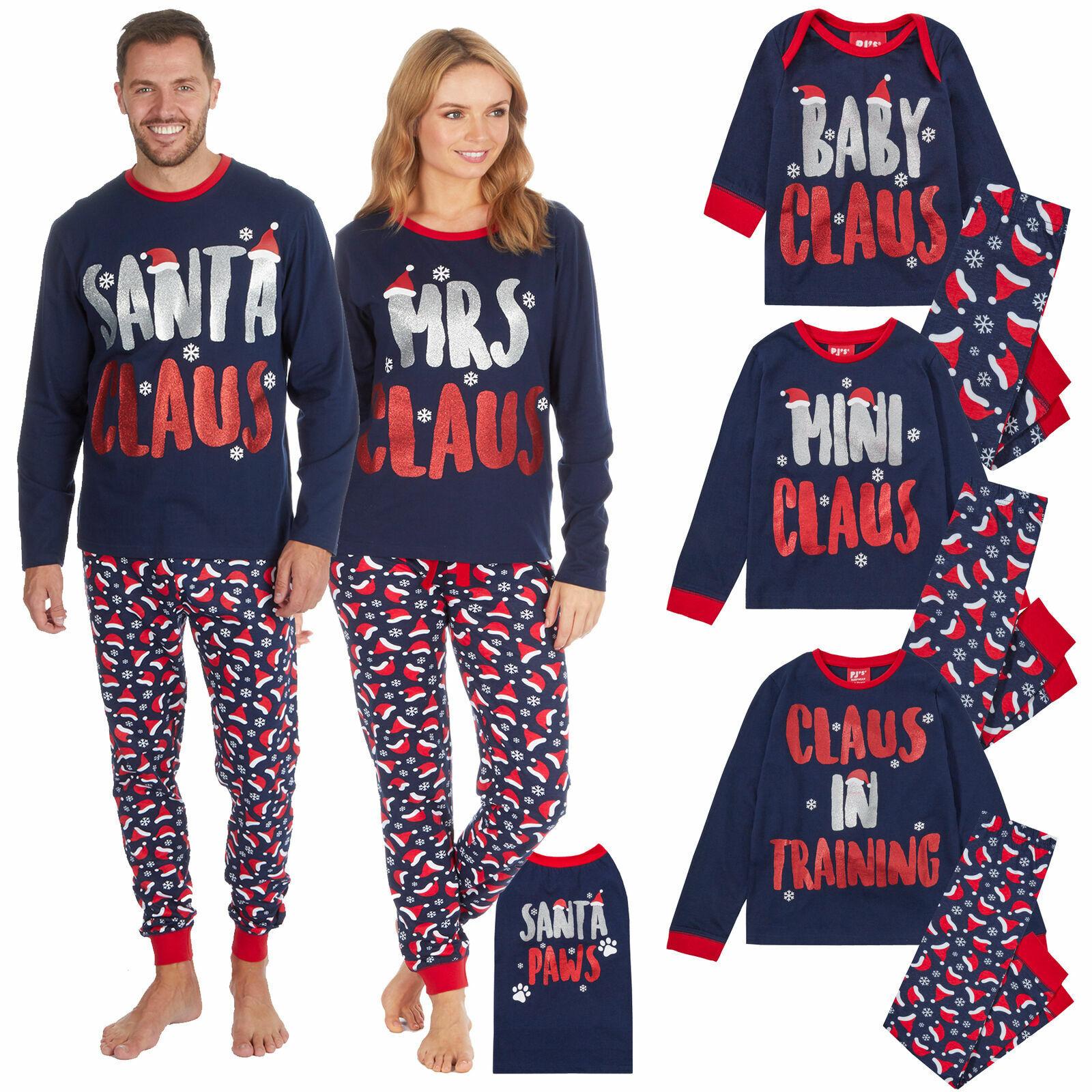 Family Xmas Matching Pajamas Adult Kids Dog Christmas Pyjama
