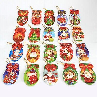 Etiqueta engomada de sello de paquete 100Pcs Feliz Navidad árbol de Navidad Regalo Etiqueta ZY