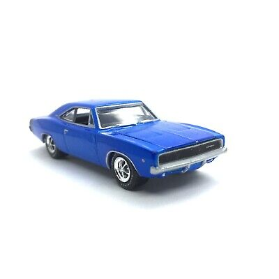 Greenlight Muscle Car Garage 1968 68 Dodge Charger R/T Car Blue Die Cast 1/64