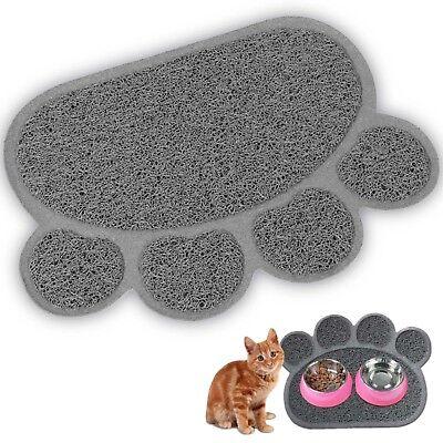 Premium Pet Food Tray - Dog Food Mat And Cat Food Mat With Non Skid Design-