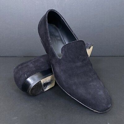 Silvano Sassetti For Jeffrey Rudes Black Suede Loafers Made In Italy Men's 9.5