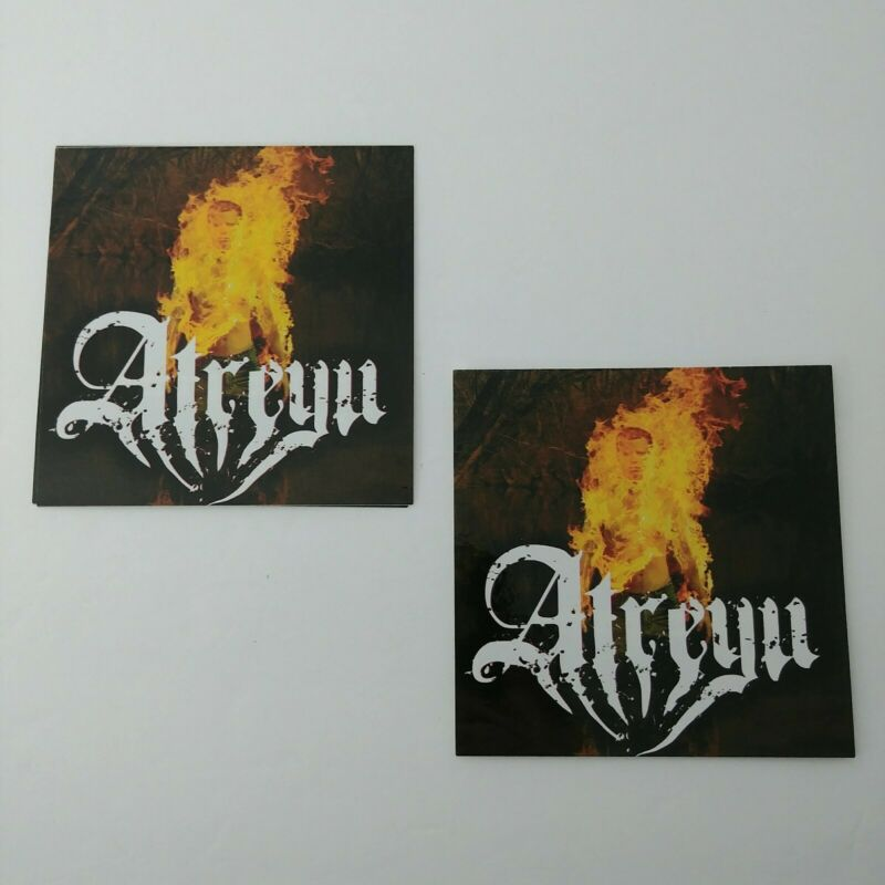 BUNDLE LOT of 2pcs Atreyu Death Grip on Yesterday 4x4 Music Stickers