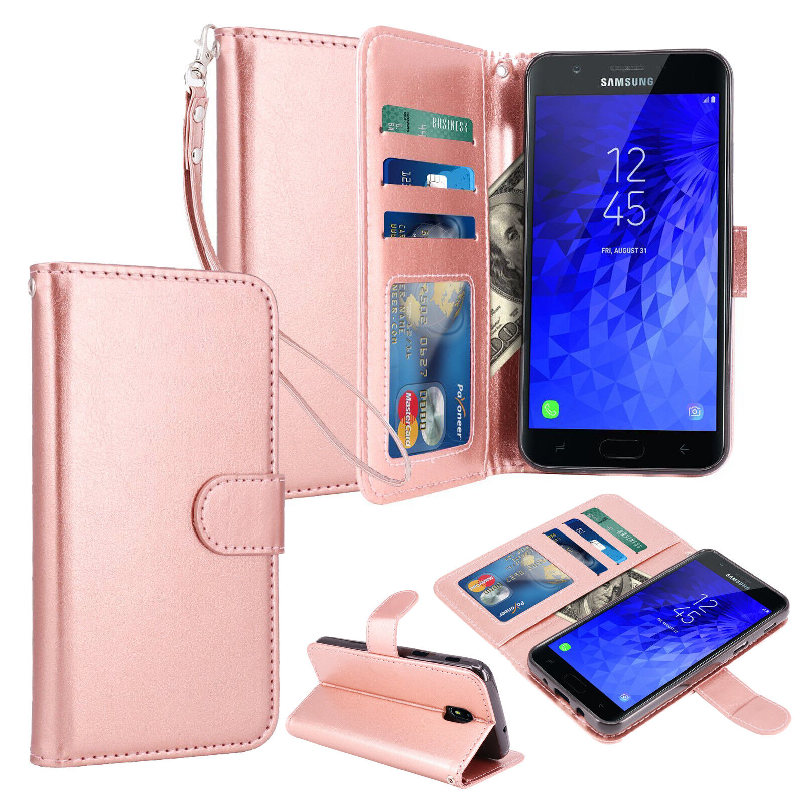 For Samsung Galaxy J7 Crown / J7 Refine Star Top Aura Leather Wallet Case Cover Cases, Covers & Skins