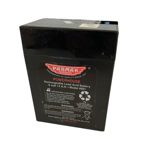 Parmak 901 6-Volt Gel Cell Battery for Solar Powered Electric Fences New