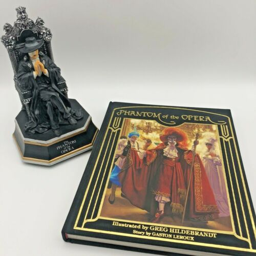 PHANTOM OF THE OPERA SF Music Box Co MUSIC OF THE NIGHT and Illustrated Book Set