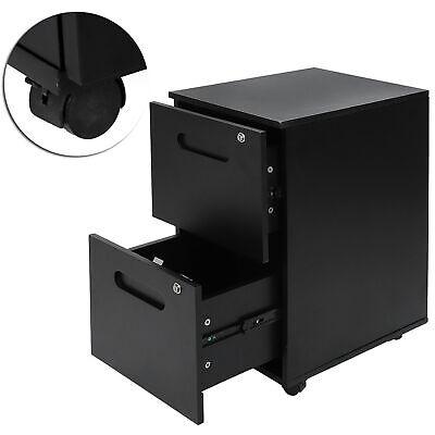 2 Drawer Metal Filing Cabinet Wlock Wheels Mobile Letterlegal File Organizer