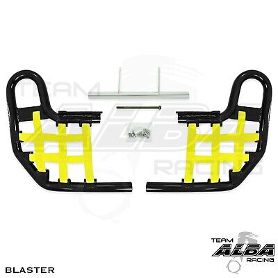 Blaster YFS200 YFS 200  Nerf Bars  Alba Racing  Black bar Yellow nets  212-T1-BY