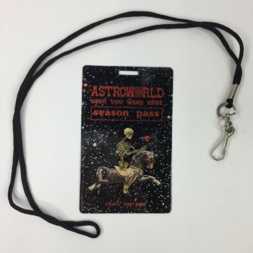 Astroworld Season Pass SOLD OUT Travis Scott Wish You Were Here Tour + Lanyard