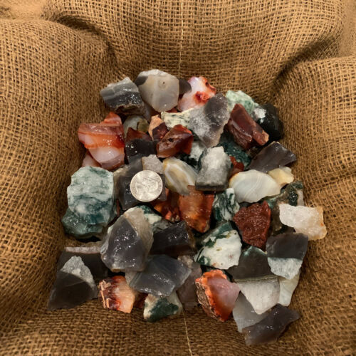 1000 Carat Lots of Unsearched Natural MIXED Agate Rough+ A FREE Faceted gemstone