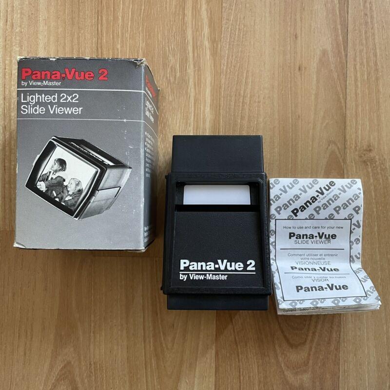 Vintage View Master Pana-Vue 2 Lighted 2x2 35mm Slide Viewer - TESTED & WORKS