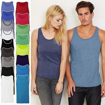 Herren Tank Top Shirt von Bella+Canvas in 19 Farben Baumwolle Unisex Jersey 3480 - Herren Jersey Tank
