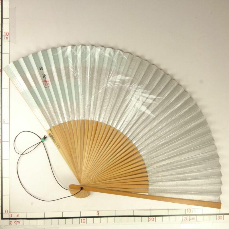 YU173 SENSU Japanese Fan Art painting Picture Geijyutu Traditional Vintage