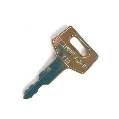 Takeuchi Key For Excavator Track Loader - Factory Original With Oem Logo H806