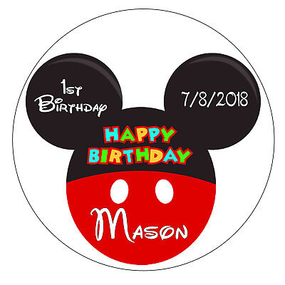 20 MICKEY MOUSE BIRTHDAY PARTY FAVORS STICKERS LABELS FOR GOODY BAGS, TAGS, - Mickey Mouse Birthday Party