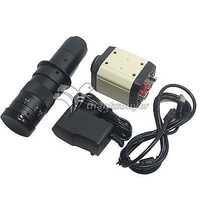 3 In1 2mp Hd Industry Video Microscope Camera Vga Usb Cvbs Tv 180x C-mount Lens