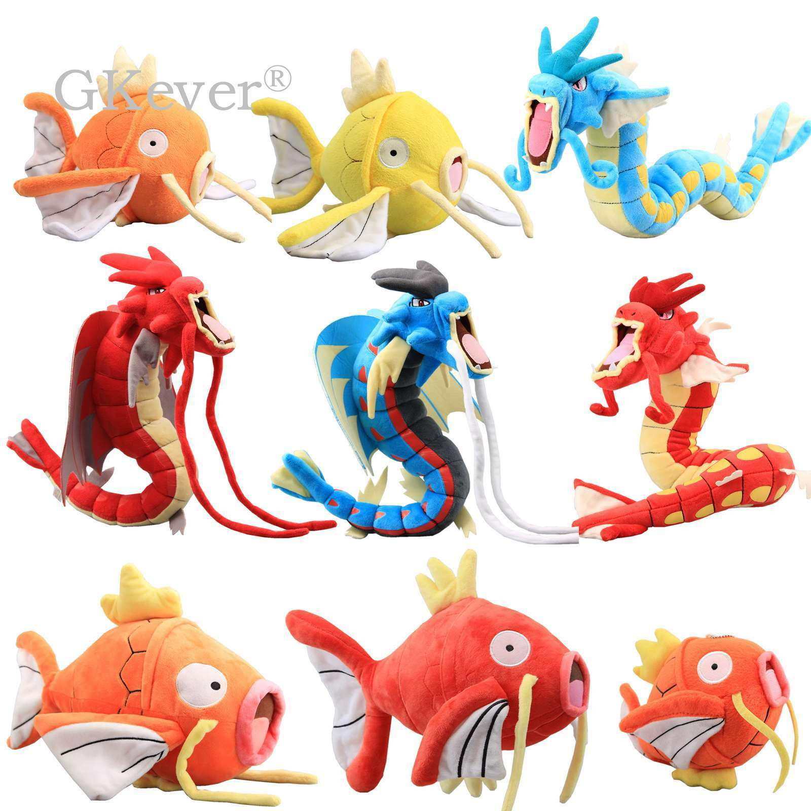 "Pokemon Shiny /& Magikarp Plush Soft Toy Stuffed Animal Doll Teddy Fish 8/"""
