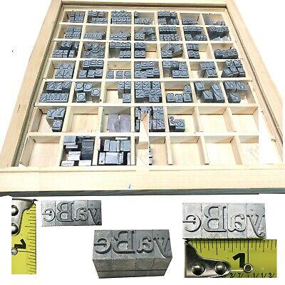 Kingsley Kwikprint Stamping Machine Type Letter Set Block  Wood Case