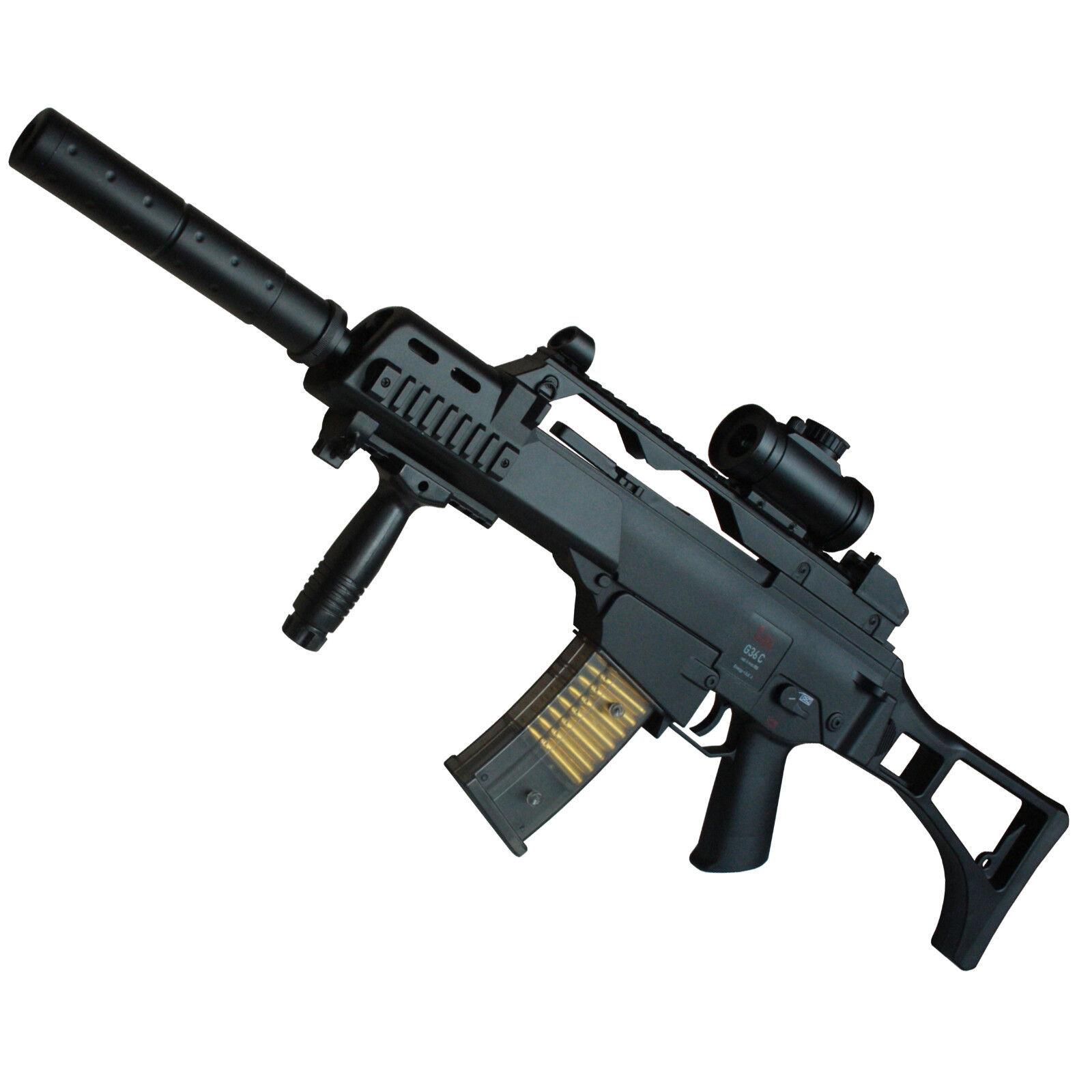 Heckler & Koch G36 C Softair Gewehr Federdruck mit viel Zubehör < 0,5 Joule