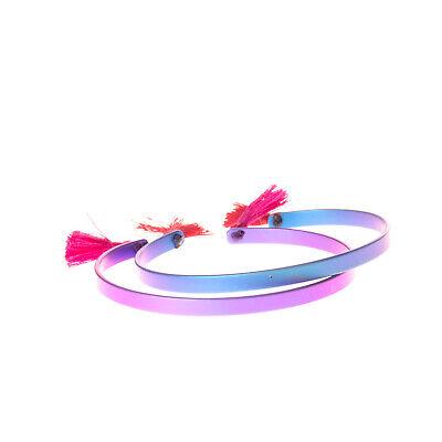EYE M by ILEANA MAKRI Set of 2 Open Cuff Bracelets Tassel Details Skinny Matte