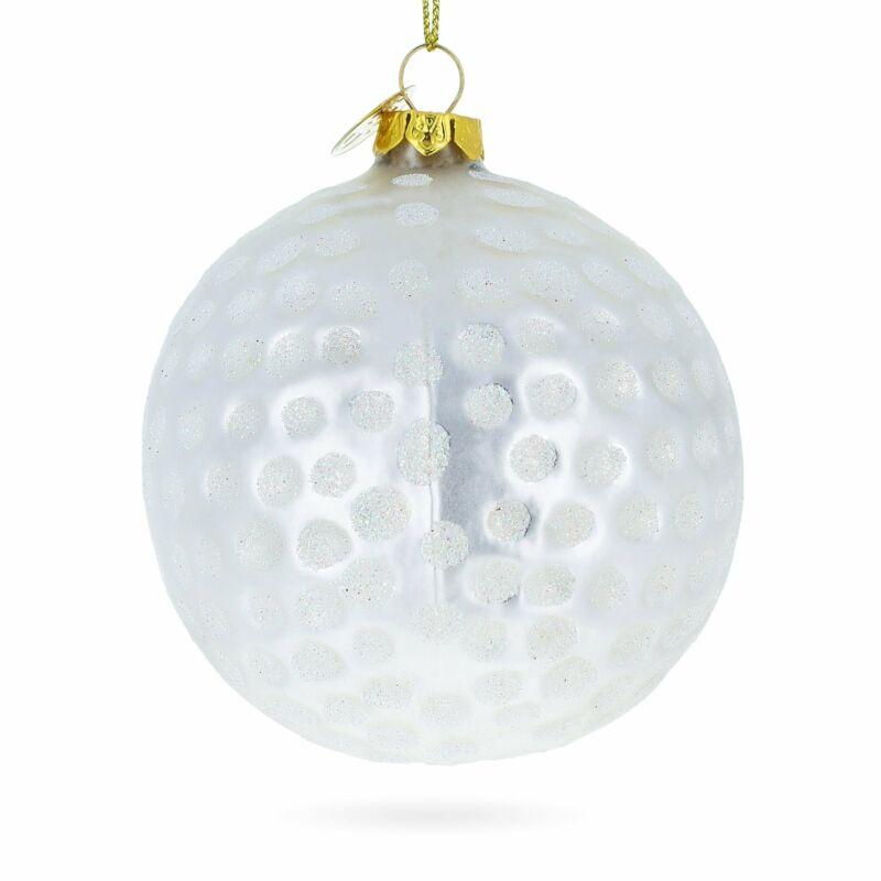 Golf Ball Glass Christmas Ornament