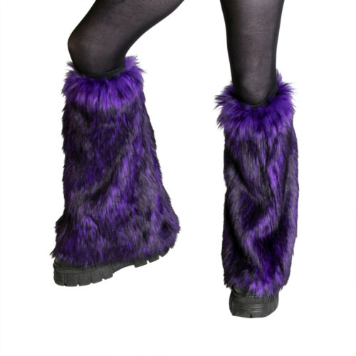 PAWSTAR Wild Wolf Fur Leg Warmers - faux fluffy fluffies furry rave [PUW]2510