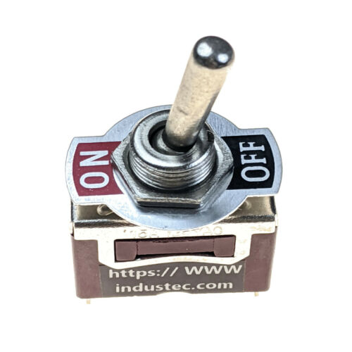 IndusTec Medium Duty 10 - Amp SPST 2 SCREW Toggle Switch MAINTAINED 2 Pos 12V