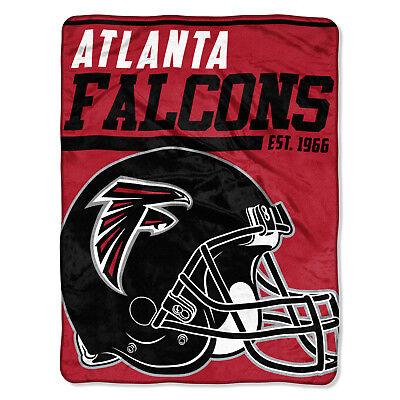 NFL große Decke ATLANTA FALCONS Silk Throw Blanket 40 Yard Dash