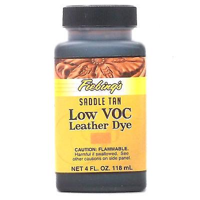 Saddle Tan 4 oz. (118 mL) Fiebing Low Voc Leather Dye
