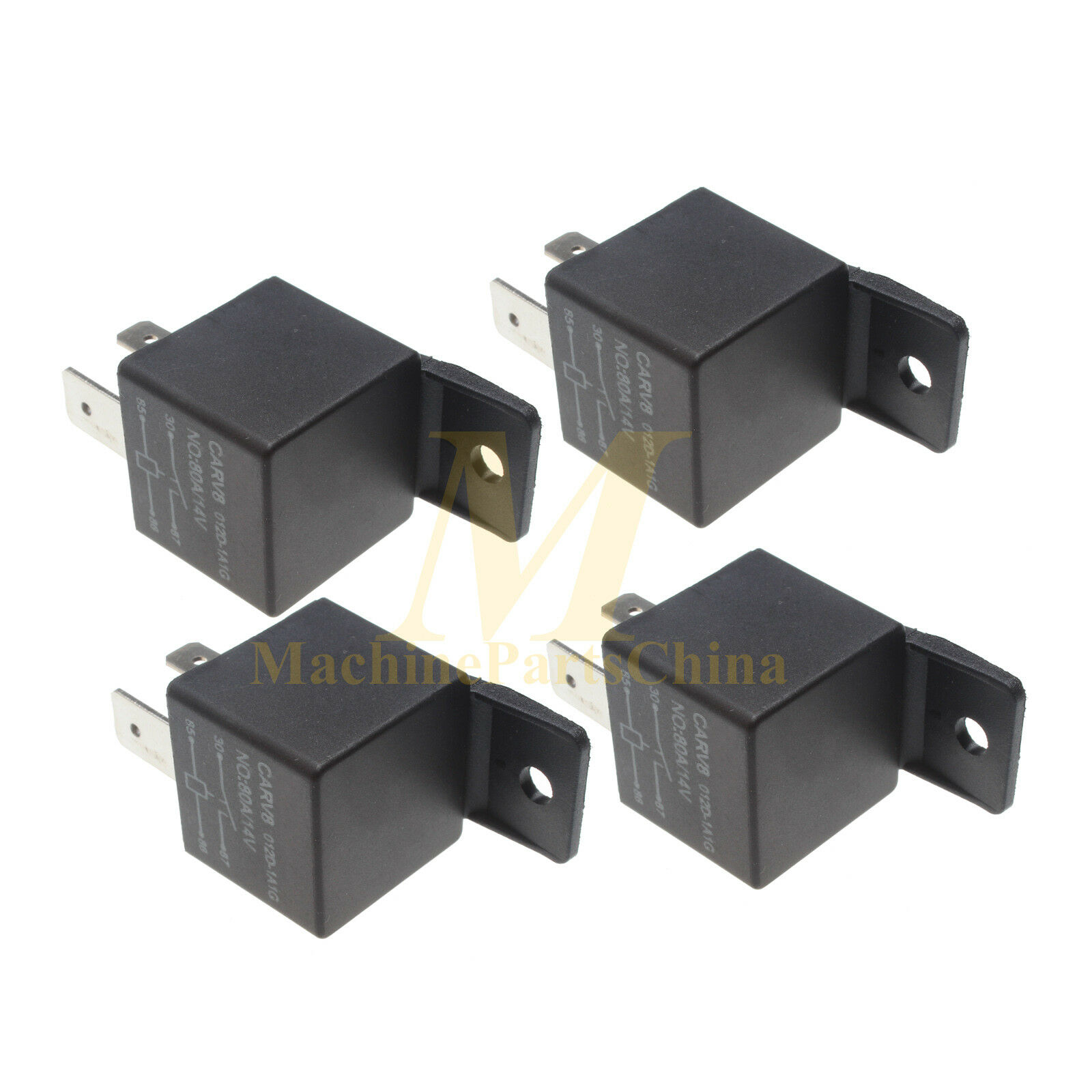 4 Pieces Fuel Shutoff Solenoid Relay for Dodge Cummins 5.9L PickUp Truck  80A 14V