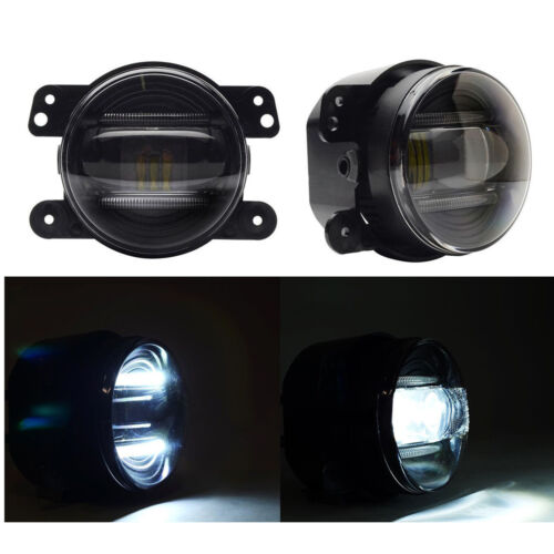 "4"" inch 30W  LED Fog Light Driving Lamp DRL For 2007-2015 Jeep Wrangler JK CJ TJ"