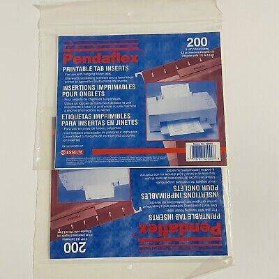 2-pendaflex Printable Insert For Hanging File Folders3 1213 Cut200 Inserts