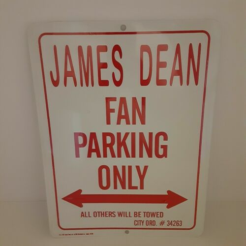 James Dean Fan Parking Only Metal Sign All Others Will Be Towed 9X12 White Red