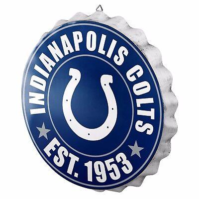 Colts Decorations (Indianapolis Colts Bottle Cap Sign - Est 1953 - Room Bar Decor NEW 13.5