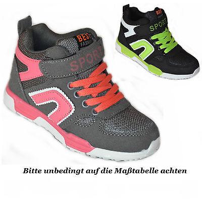 Mädchen Jungen Knöchelschuhe Sneaker Boots Gr. 29 30 31 32 33 34 35 36 NEU ()