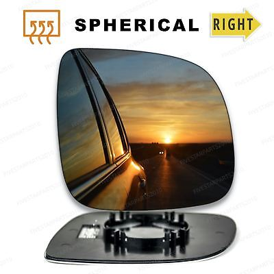 Left Wide Angle side wing mirror glass for VW Transporter T4 90-03 heat