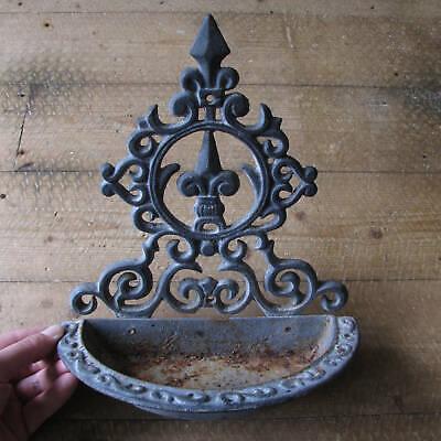 Vintage Galvanised Metal Ornate Bird Feeder / Drinker